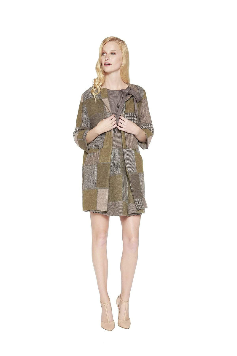 Eva Franco Coat Imogen Coat - Hunter Tweed