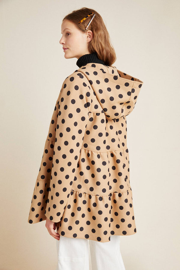 Maybelle Polka Dot Tiered Coat