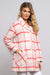 Eva Franco Coat Strawberry Plaid Coat