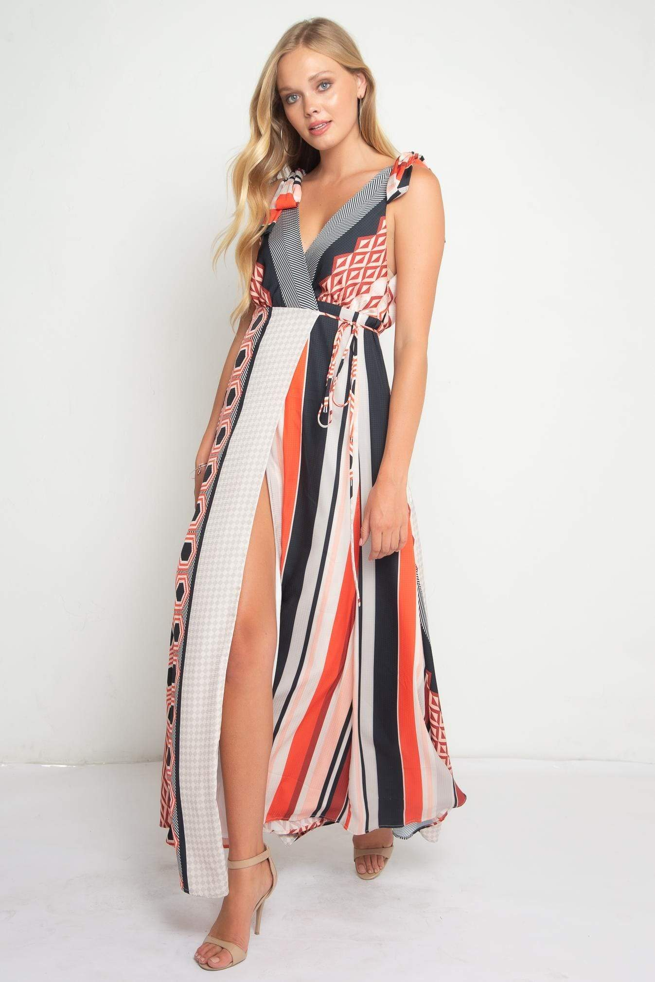 Eva Franco Dress Appoline High Split Maxi Dress- Ibiza