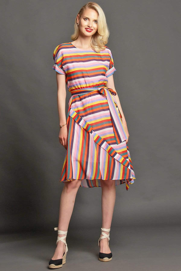 Asby Dress - Carnival Stripes - Eva Franco