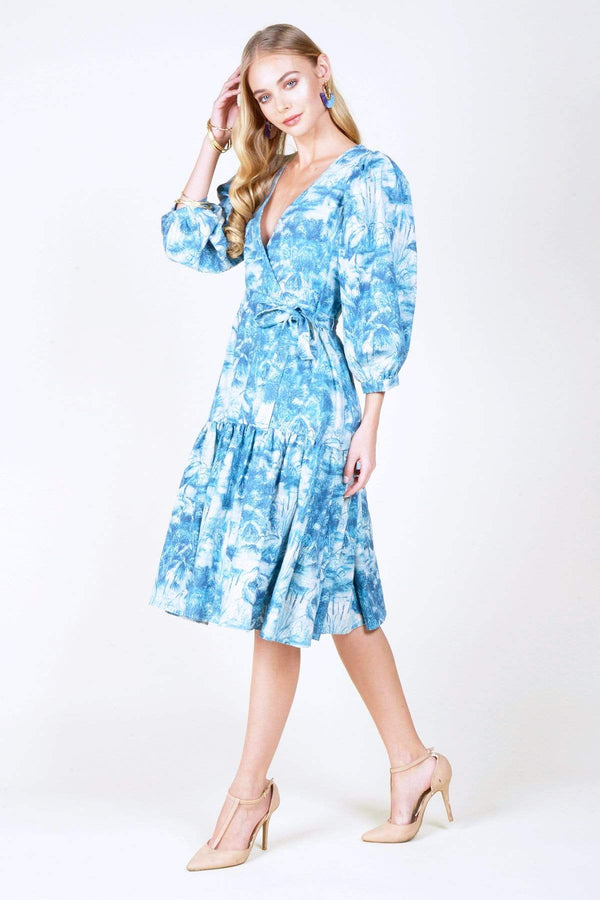 Astor Dress - Blue Lagoon - Eva Franco