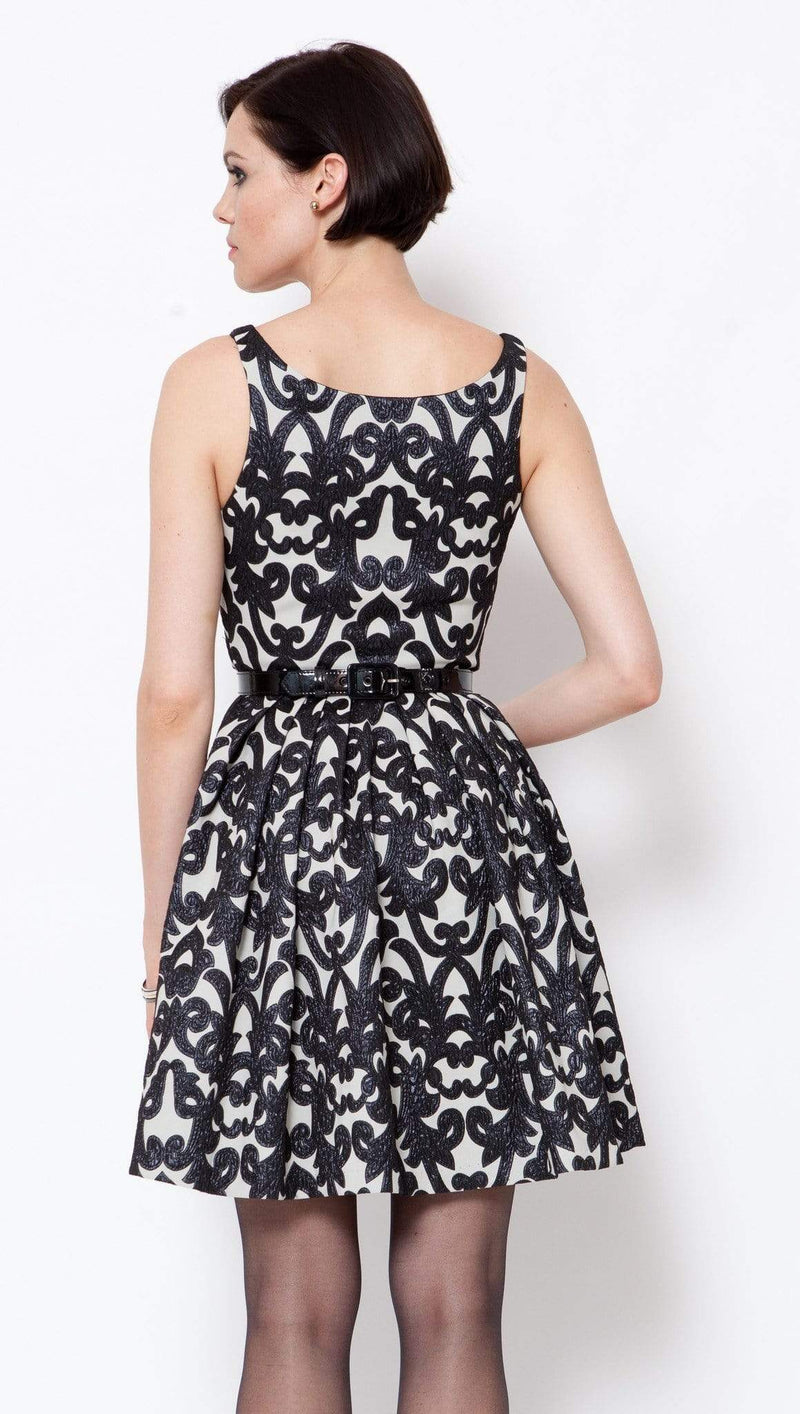 Betty Dress- Black Brocade - Eva Franco