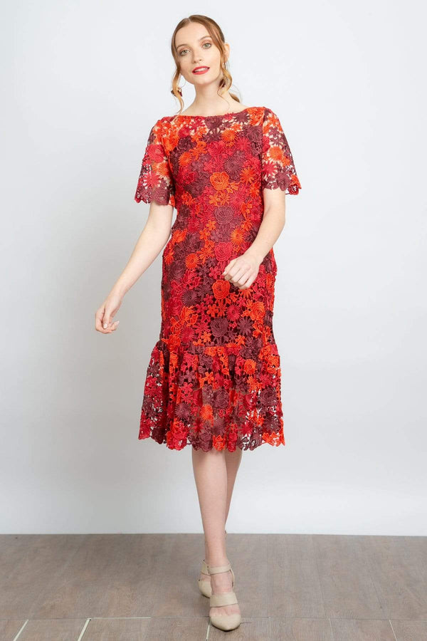 Brigitte Embroidered Midi Dress - Eva Franco