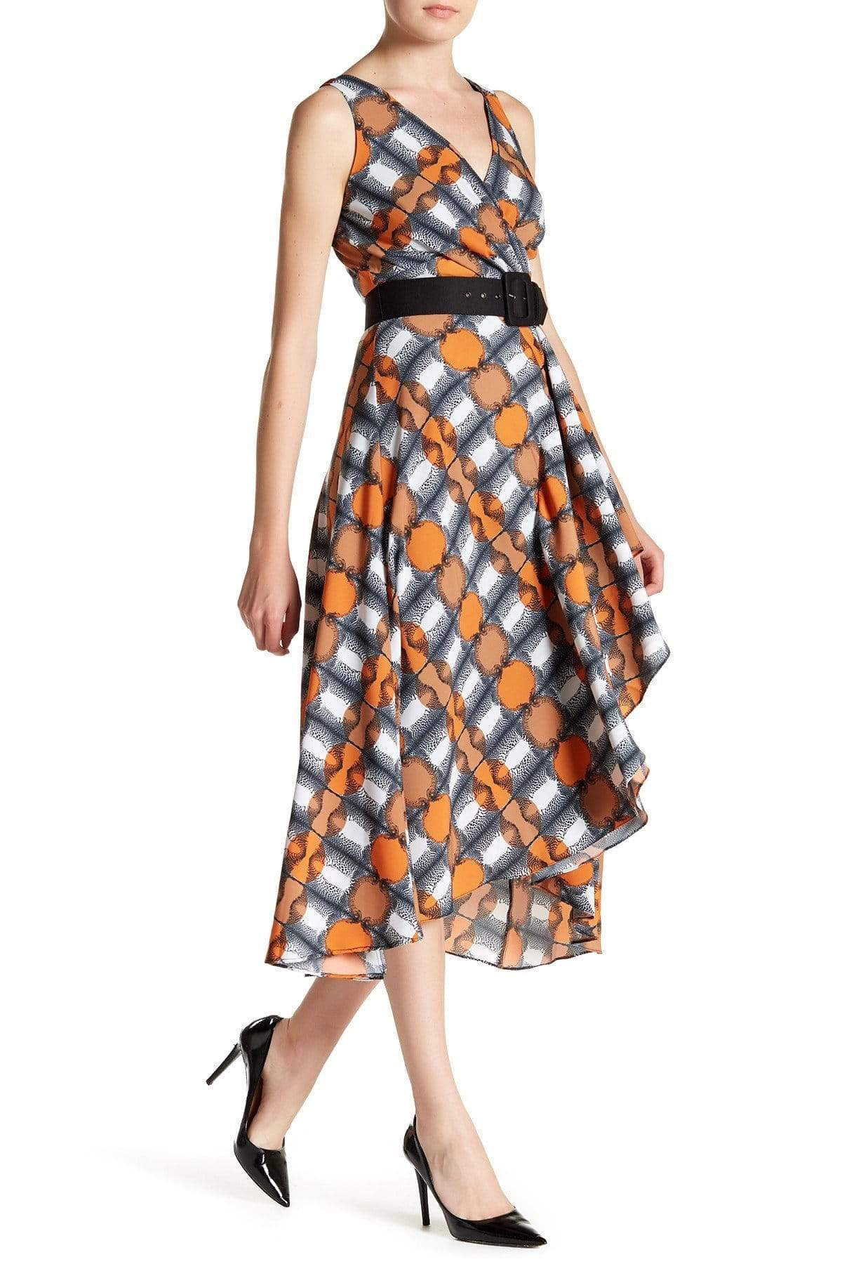 Eva Franco Dress Camille Dress - Orange/Navy