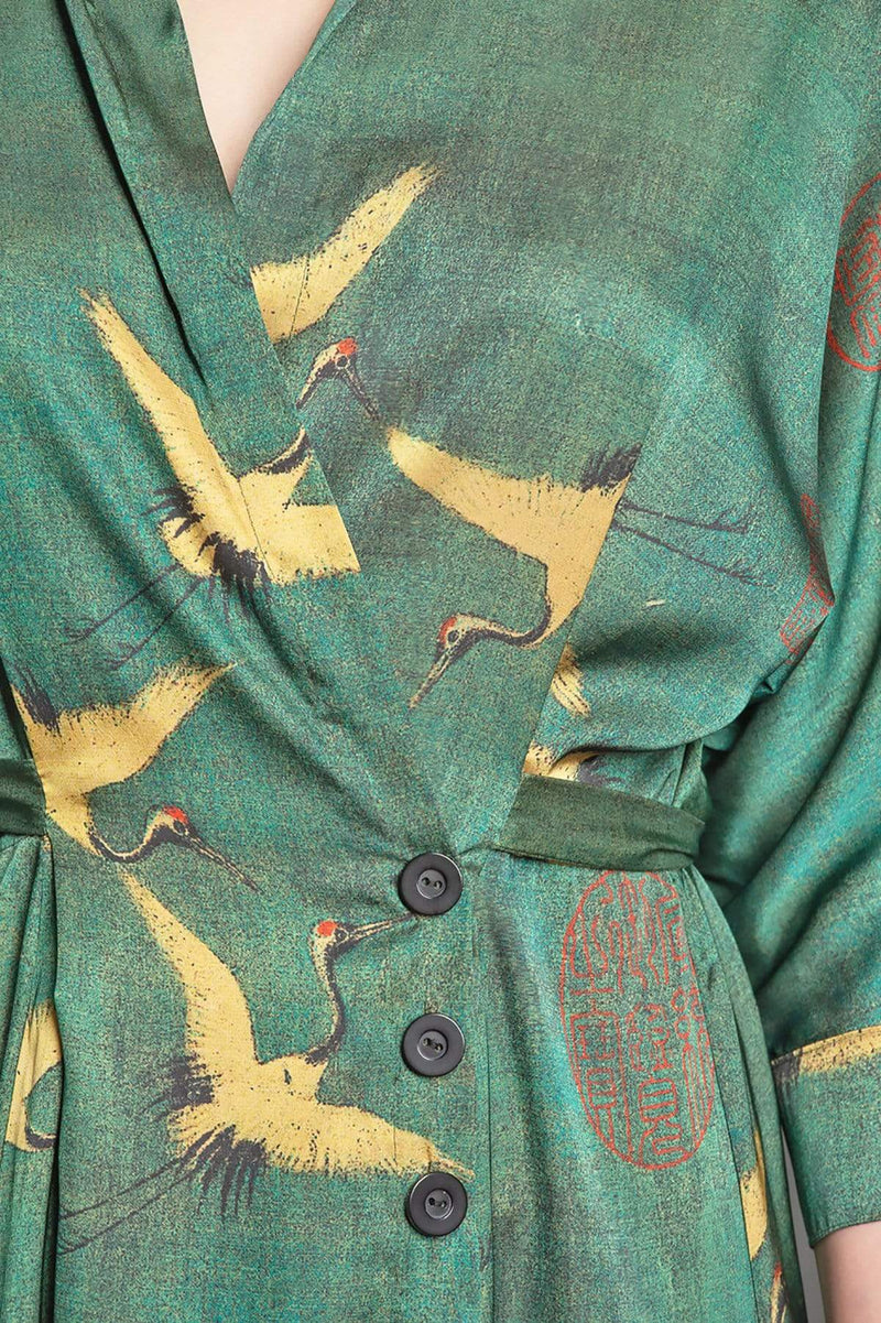 Darling Dress - Cranes - Eva Franco