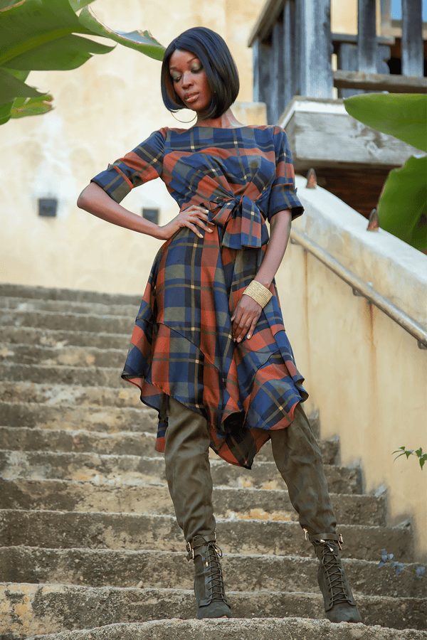 Ezra Dress - Dali Plaid - Eva Franco