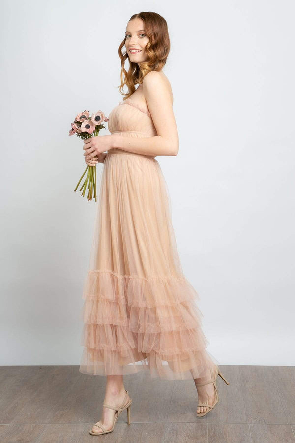 Eva Franco Dress Graciela Tiered Tulle Maxi Dress