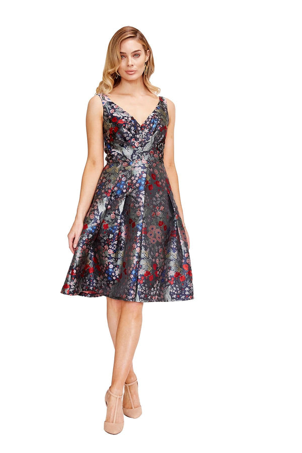 Eva Franco Dress Lady Percy Dress - Midnight Garden