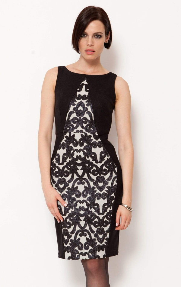 Matrix Dress- Black Brocade - Eva Franco