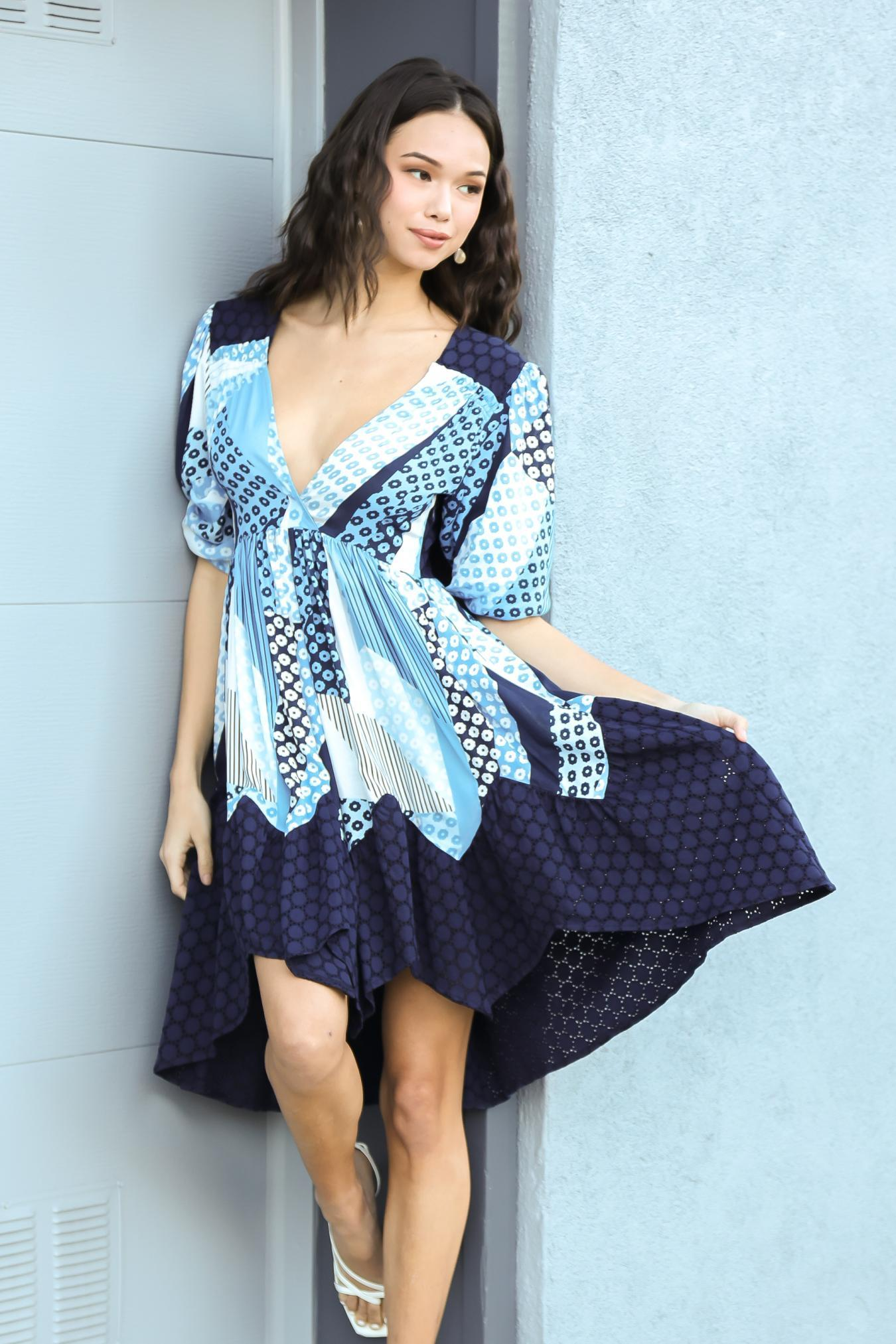 Eva Franco Dress Melanie Dress - Turks and Caicos PRE-ORDER