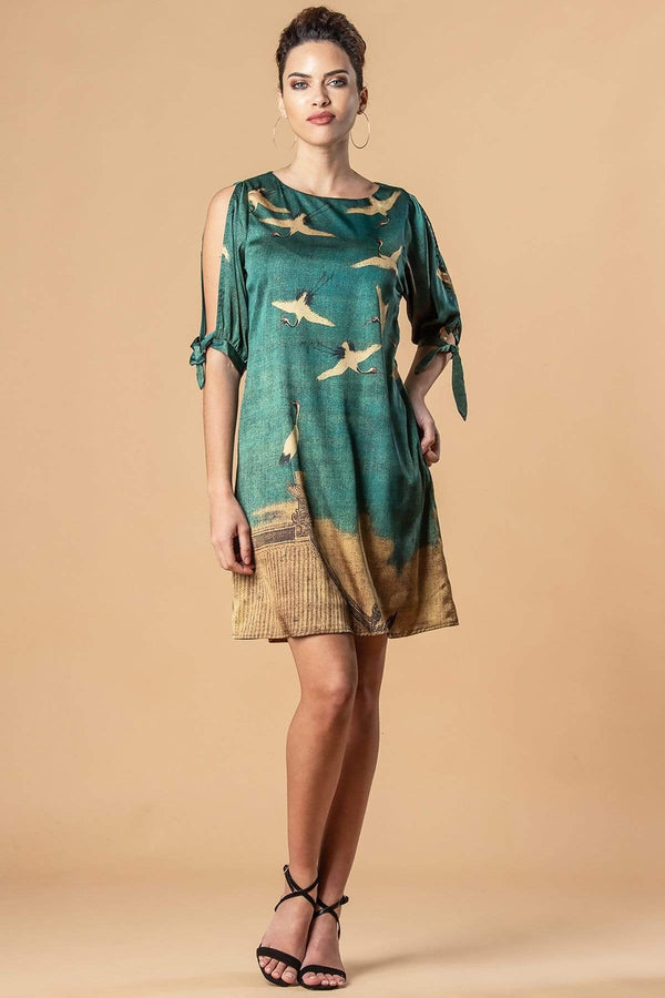 Perry Dress - Cranes - Eva Franco