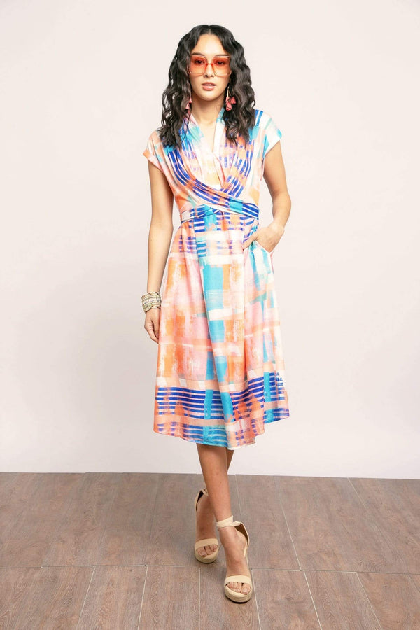 Poppy Dress - Sorbet Plaid - Eva Franco