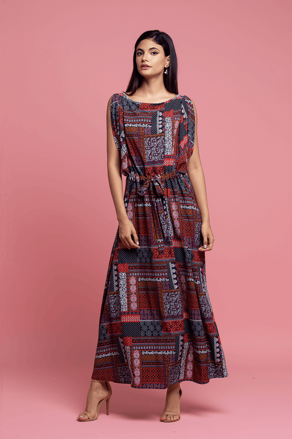 Roma Dress - Mixed Print Bandana - Eva Franco