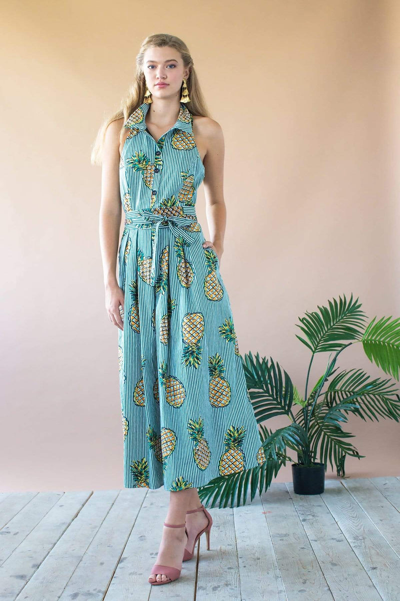 Sabine Dress - Pineapple Plantation - Eva Franco