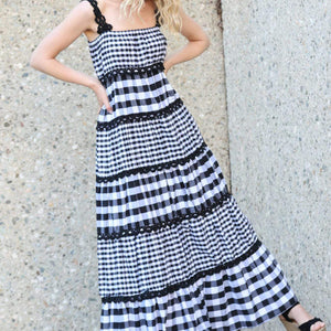Serendipity Maxi Dress - Checkmate