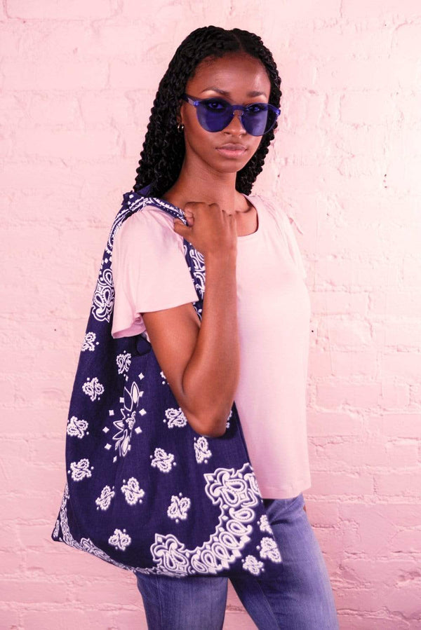 Bandana Navy Cloth Bag - Eva Franco