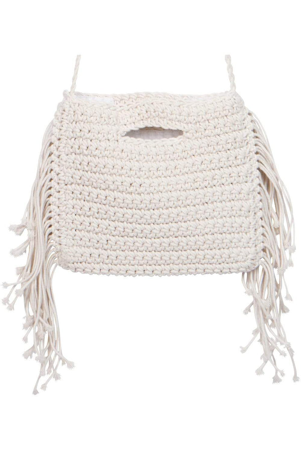 Macrame Crochet White Boho Bag - Eva Franco