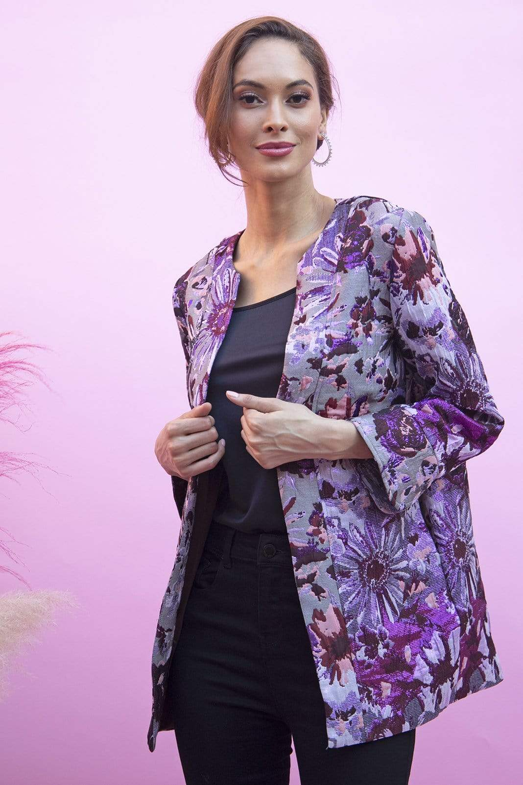 Eva Franco Jacket Lilly Jacket in Lavendar Kaleidoscope