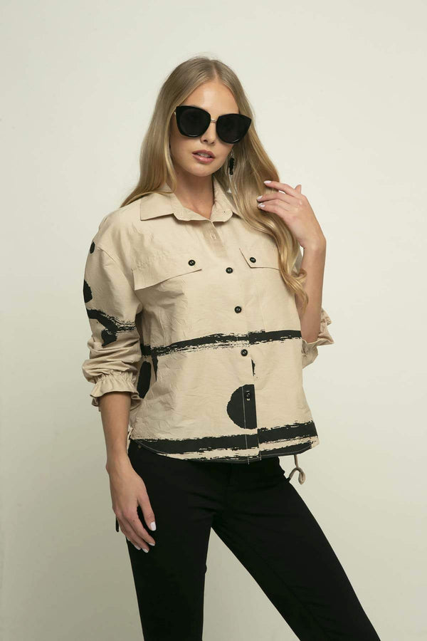 Tristan Jacket - Coffee Float - Eva Franco