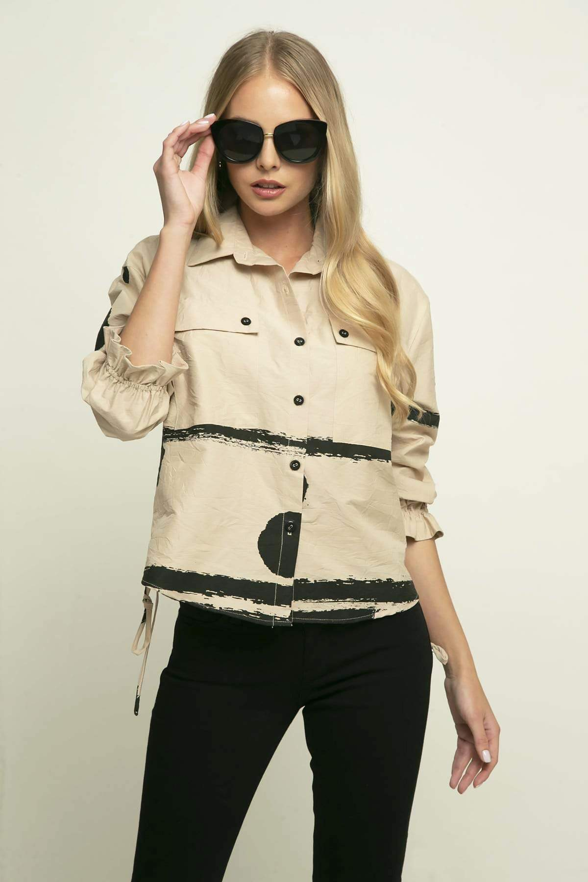 Eva Franco Jacket Tristan Jacket - Coffee Float