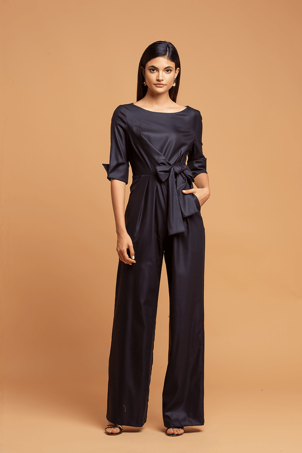 Ezra Jumpsuit - Dark Navy - Eva Franco