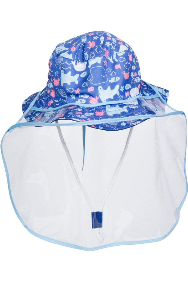 All The Fish Baby Hat W/ Detachable Face Shield - Eva Franco