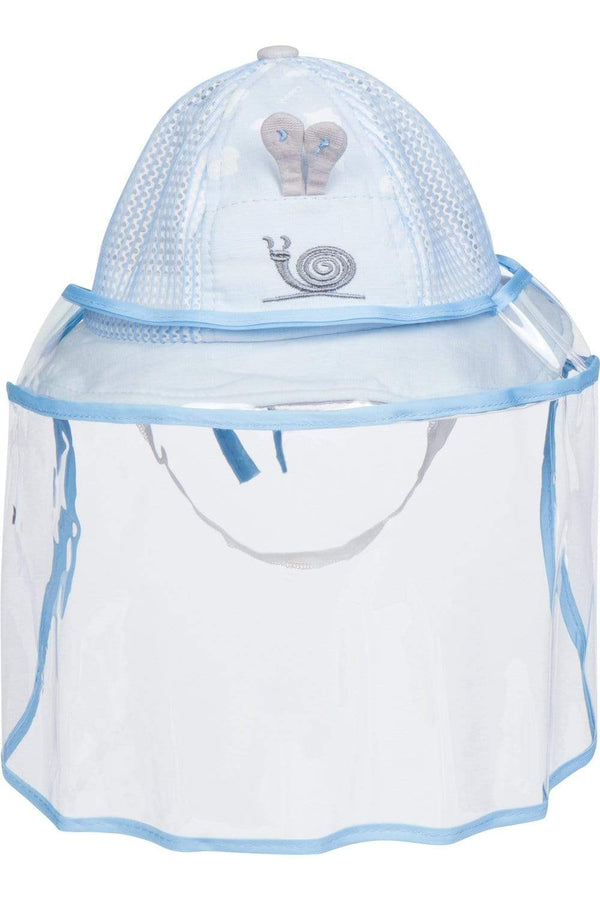 Eva Franco Mask Baby Snail Hat W/ Detachable Face Shield