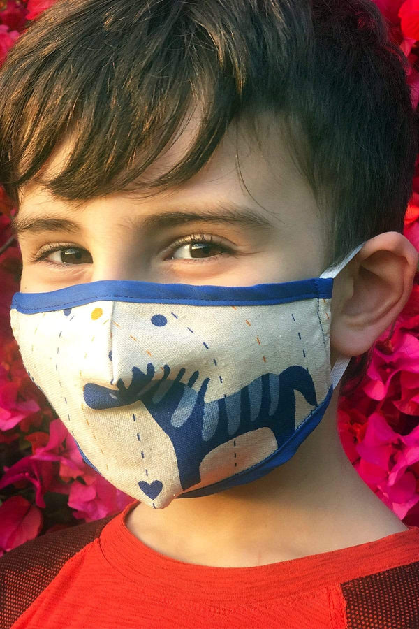 Blue Pony Kids Mask - Eva Franco