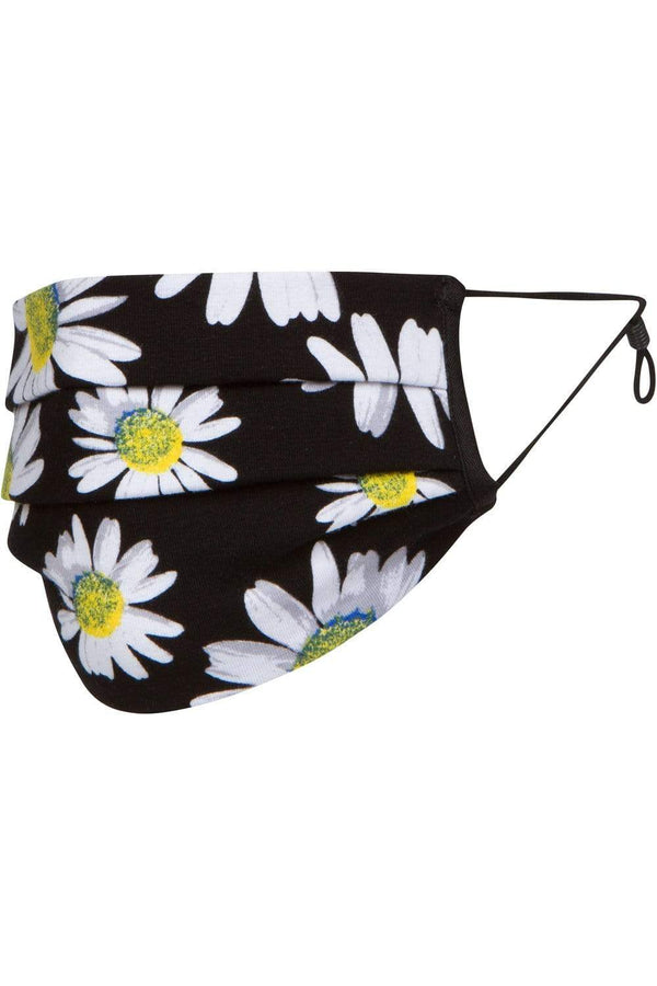 Daisy Floral Jersey Adult Mask - Eva Franco