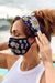 Eva Franco Mask Daisy Mesh Mask with Matching Headband