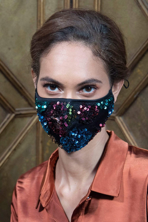 Eva Franco Mask Disco Nights Sequins Adult Mask