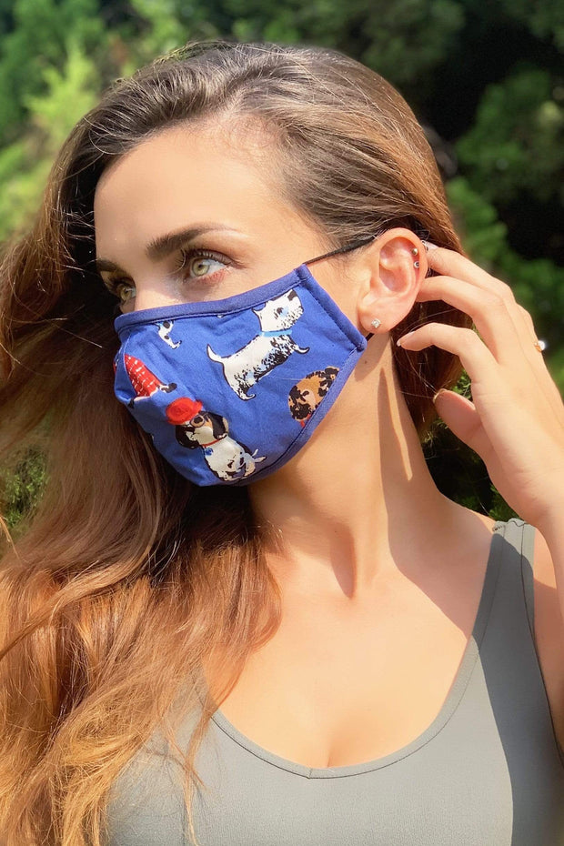 For Dog Lovers Adult Mask w/ Nose Wire 1