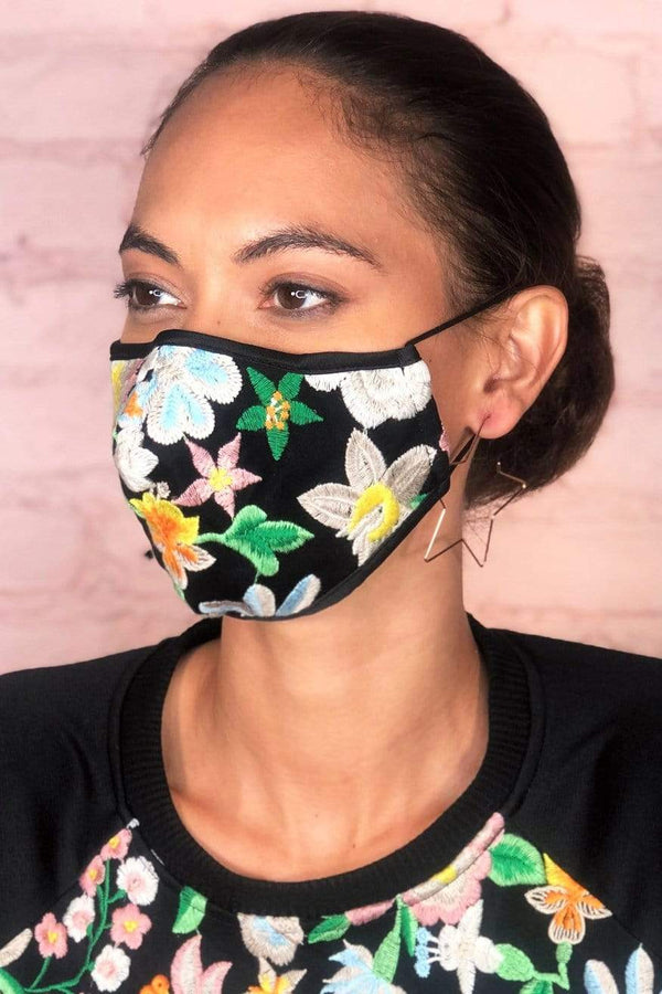 Frida Embroidered Adult Mask