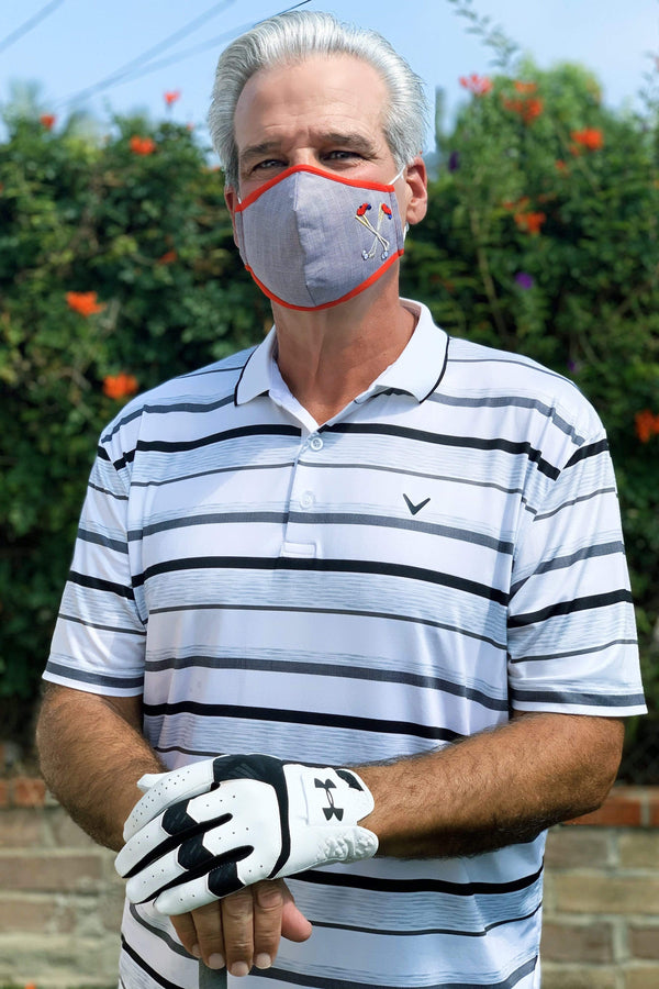 Eva Franco Mask Grey Golf Clubs Adult Mask