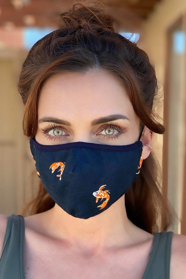 Koi Pond Unisex Adult Mask - Eva Franco