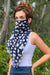 Eva Franco Mask Navy Petal Scarf Mask
