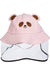 Eva Franco Mask Pink Bear Kids Hat W/ Detachable Face Shield