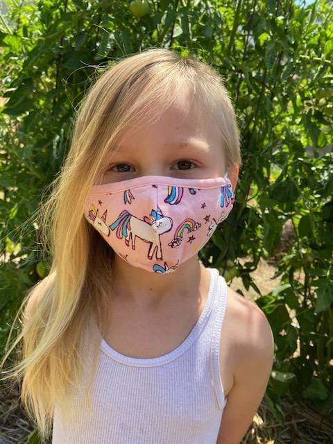 Pony Rainbow Cotton Kids Face  Mask - Eva Franco