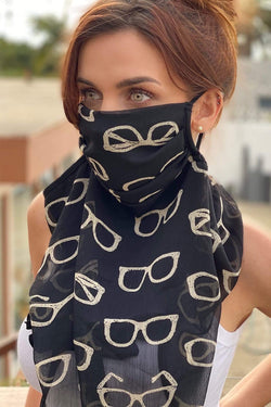 Eva Franco Mask Sunglasses Scarf Mask