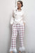 Eva Franco Pants Brenda Feathered Plaid Pants