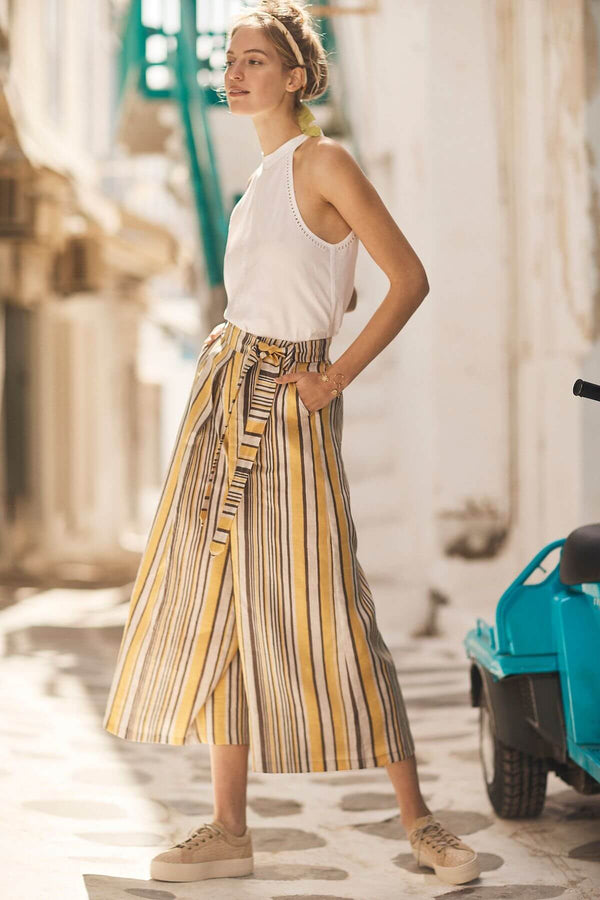 Chester Wide-Leg Yellow Pants - Eva Franco