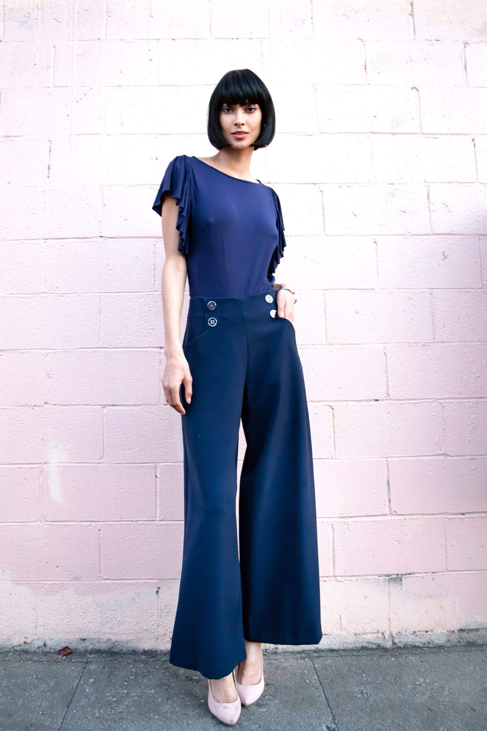 Eva Franco Pants Hepburn Pant in Black or Navy