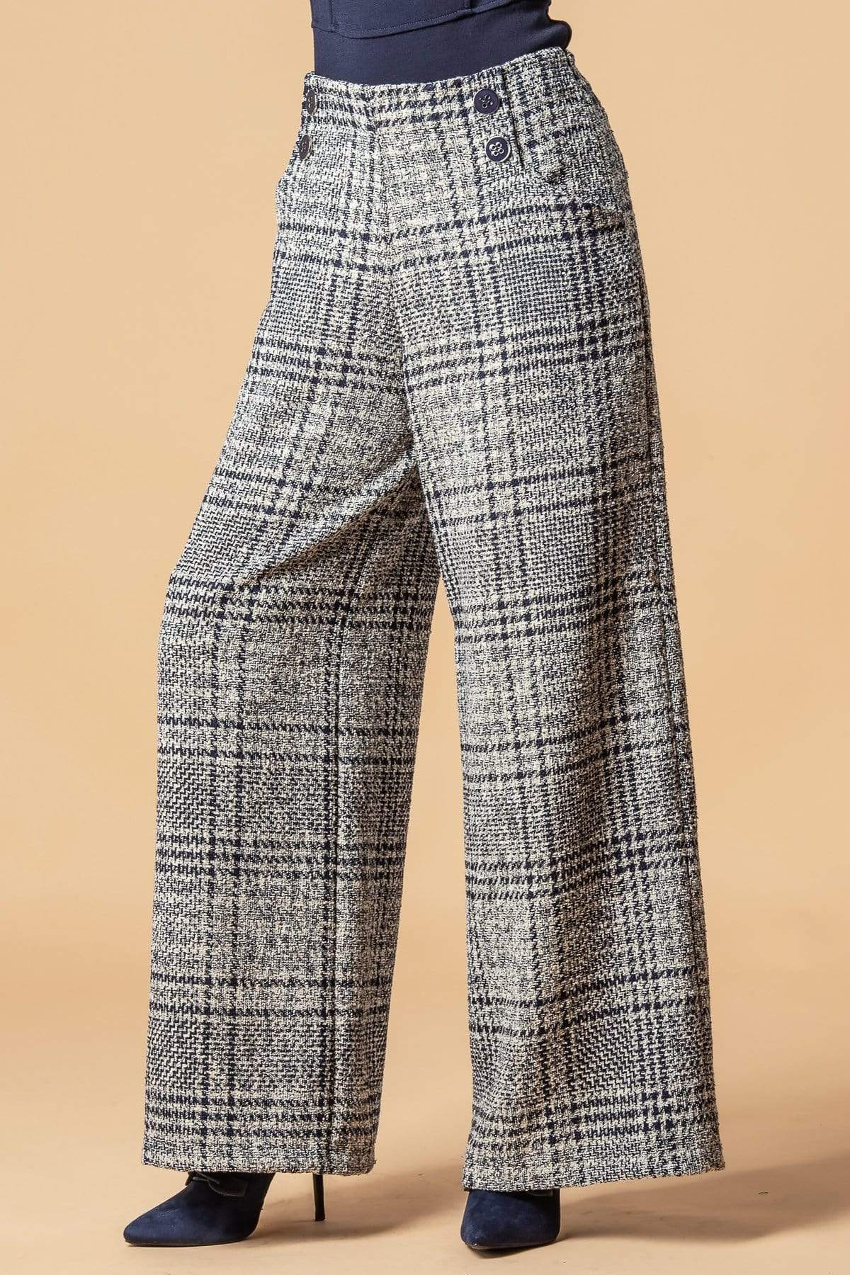 Eva Franco Pants Hepburn Pant - Whitby Plaid