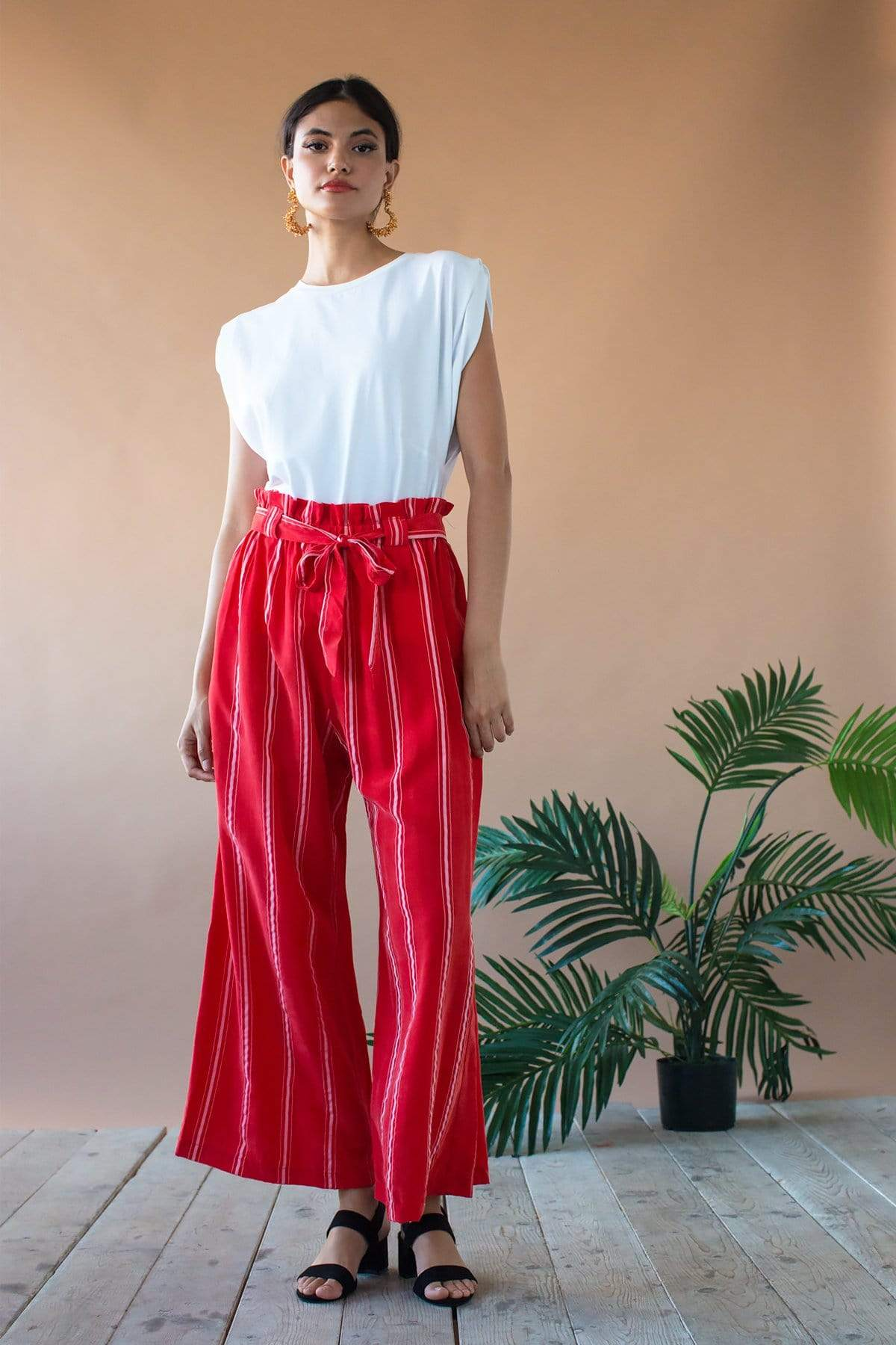 Eva Franco Pants Lukas Pant - Red Candy Stripe