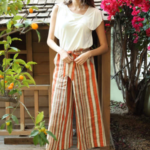 Tabias Pants - Creamsicle Stripe Orange