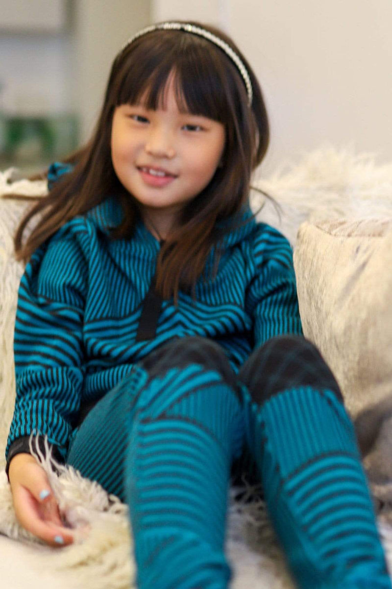 Teal and Black Brit Wit Jogger Pant - Girls