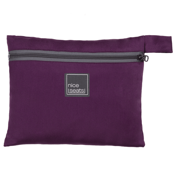 Eva Franco Seat Cover Airplane Seat Cover in Amethyst - Free Mask with purchase