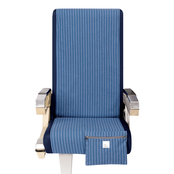 Airplane Seat Cover in Railroad Stripe - Free Mask with purchase
