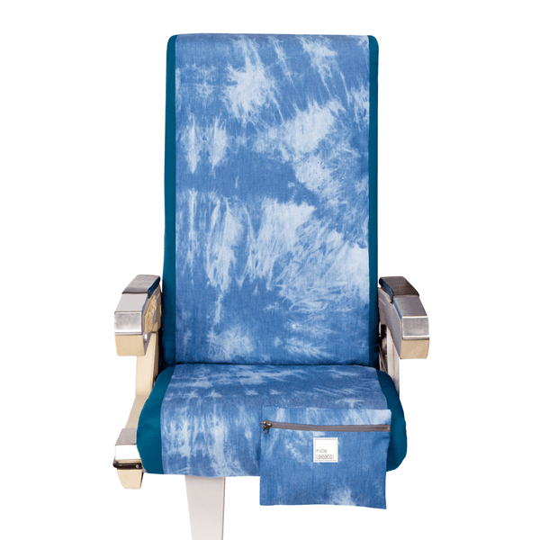 Airplane Seat Cover in Tie Dye Sky - Free Mask with purchase